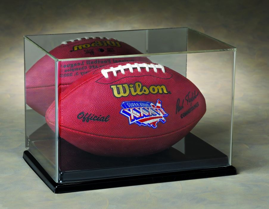 Football Display Case - Acrylic 5 Sided Top